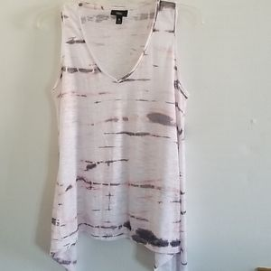 BLEACHED SLEEVELESS TOP